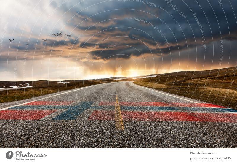 Norwegen Ferien & Urlaub & Reisen Tourismus Freiheit Landschaft Urelemente Sonne Wetter Regen Berge u. Gebirge Verkehr Verkehrswege Straßenverkehr Wege & Pfade
