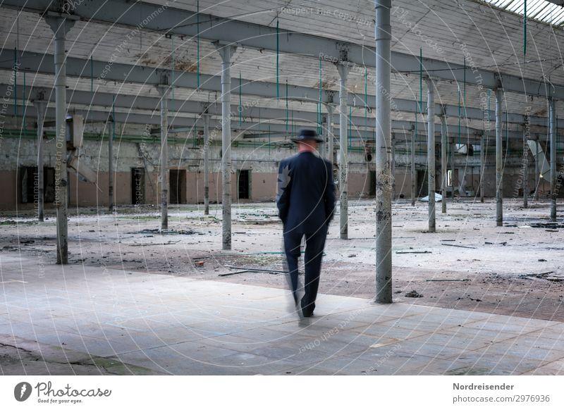 Erinnerungen Renovieren Innenarchitektur Raum Arbeitsplatz Fabrik Industrie Business Mittelstand Ruhestand Feierabend Mensch maskulin Mann Erwachsene