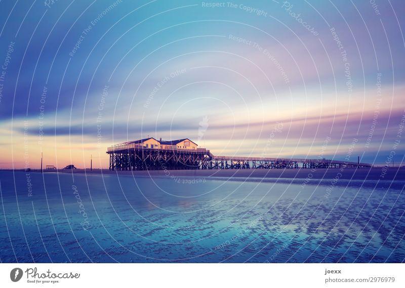 Von deinem Raum Natur schön Wasser Landschaft Haus ruhig Strand Küste Horizont Idylle Schönes Wetter hoch Schutz Bauwerk Mut maritim
