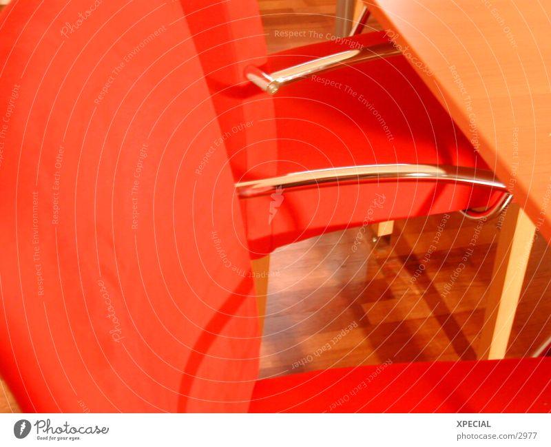 Red rot Stuhl Dynamik silber