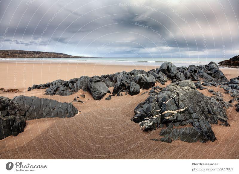 Barentssee Ferien & Urlaub & Reisen Natur Sommer Wasser Landschaft Meer Wolken Einsamkeit Ferne Strand Herbst Frühling Küste Freiheit Felsen Sand