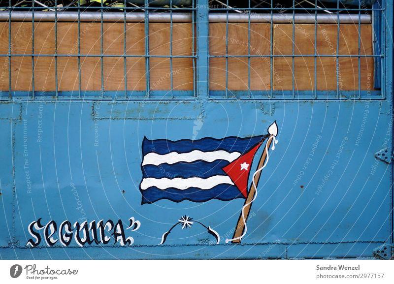 Kuba Kunst Kunstwerk Gemälde Havanna Mauer Wand Zeichen Graffiti einzigartig Selbstständigkeit Revolution Fahne Karibik Kommunismus Farbfoto mehrfarbig