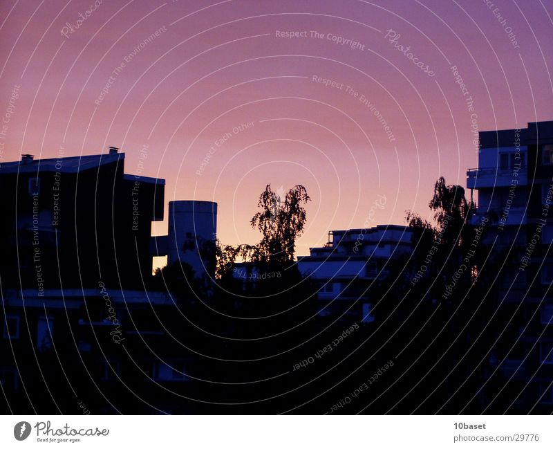 Westhagen brennt II Himmel Sonne Architektur Turm Abenddämmerung Plattenbau Wolfsburg