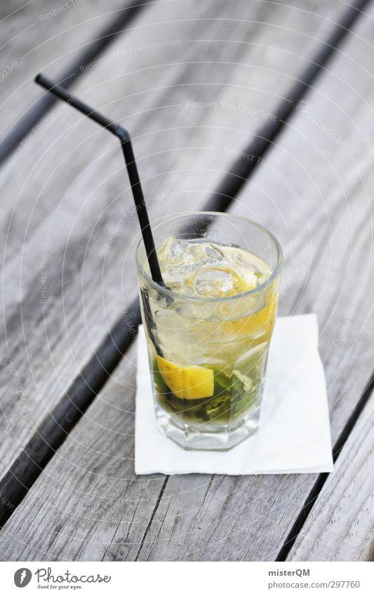 Caip the Vibe. Kunst ästhetisch Caipirinha Cocktail Cocktailbar Cocktailglas Limone kalt gekühlt Trinkhalm Lounge Sommer Sommerurlaub Pause Sommerfest Getränk