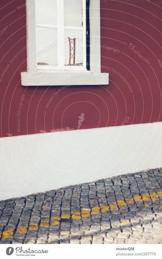 San Windowsco. Wand Straße Kunst Fassade Tourismus ästhetisch Kopfsteinpflaster Wahrzeichen Sehenswürdigkeit Portugal Straßenrand Lissabon San Francisco Golden Gate Bridge