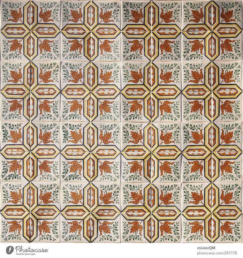 verkachelt. Kunst ästhetisch Symmetrie Fliesen u. Kacheln Portugal Lissabon Quadrat Fassade Fassadenverkleidung graphisch Farbfoto mehrfarbig Außenaufnahme