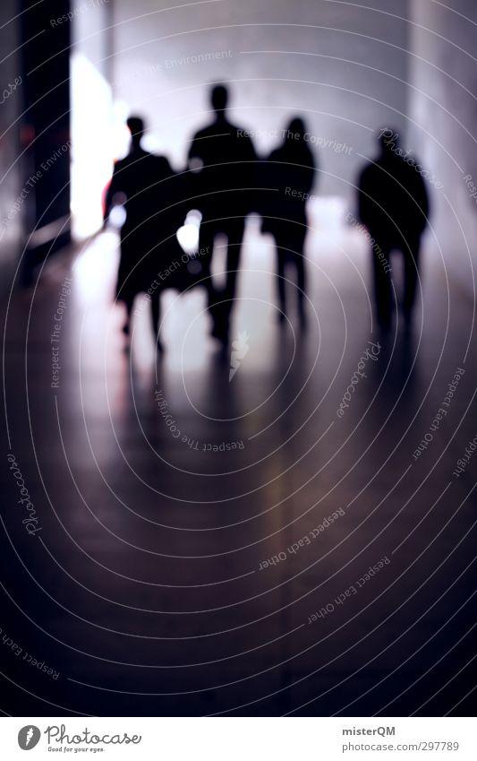Schattenläufer. Mensch Jugendliche Stadt Familie & Verwandtschaft Kunst ästhetisch Hoffnung Bildung Völker Futurismus Gesellschaft (Soziologie) Generation