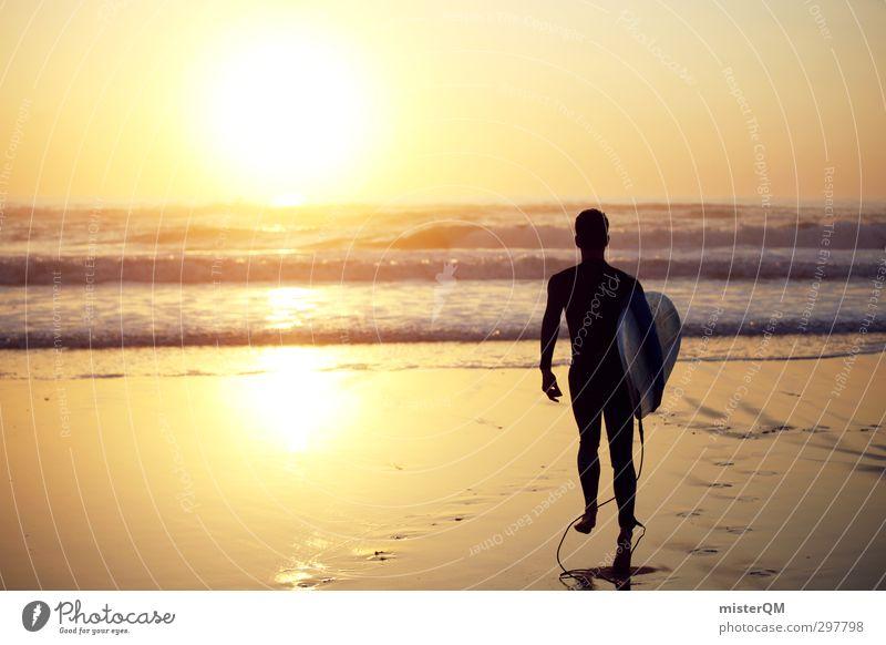 step in. Jugendliche Meer Erholung Freude Sport Kunst Wellen ästhetisch Laufsport Sommerurlaub Surfen Portugal Wassersport Surfer Surfbrett Extremsport