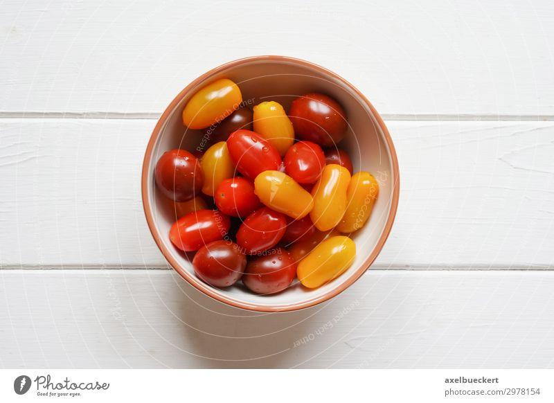 heirloom cherry tomatoes - Tomaten in Schüssel Lebensmittel Gemüse Frucht Ernährung Vegetarische Ernährung Gesunde Ernährung trendy mehrfarbig gelb rot