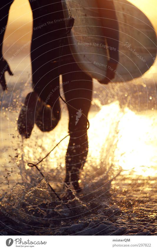 PADDLE OUT! Mann Jugendliche Wasser Sommer Meer Erotik Sport Freiheit Küste Kunst Wellen Zufriedenheit laufen Zukunft ästhetisch Wassertropfen