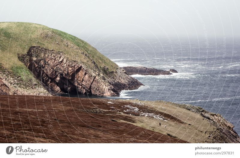 Am Ende der Welt Tourismus Ausflug Abenteuer Ferne Freiheit Meer Insel Umwelt Natur Landschaft Pflanze Urelemente Erde Wasser Himmel Klima Wetter Sturm Nebel