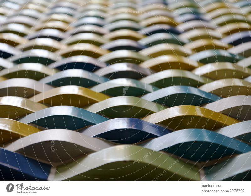 Wand im alten Stadtbad Schwimmbad Gebäude Mauer Fassade Sehenswürdigkeit Dekoration & Verzierung Stein Ornament Streifen Schnur retro mehrfarbig Design