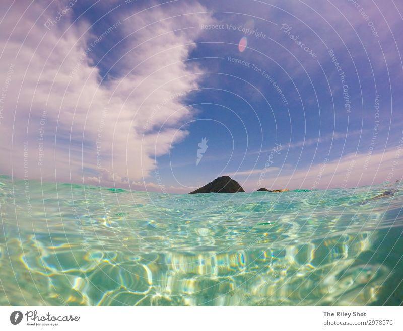 Ein Blick in die Nähe des Wasserrandes einer tropischen Insel schön Erholung Ferien & Urlaub & Reisen Abenteuer Sommer Strand Meer Wellen Natur Landschaft Sand