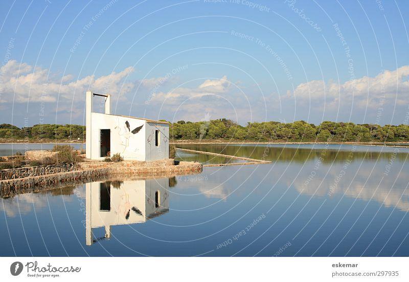Salinen Formentera Ferien & Urlaub & Reisen Tourismus Sommer Sommerurlaub Insel Landschaft Wasser Himmel Schönes Wetter See authentisch blau ästhetisch Umwelt