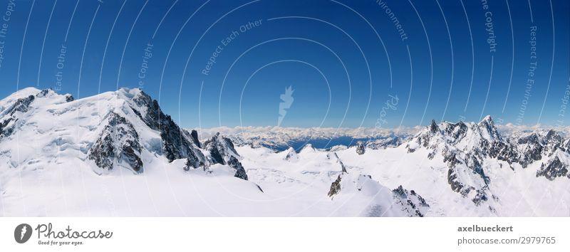 Chamonix Ferien & Urlaub & Reisen Tourismus Ausflug Winter Schnee Winterurlaub Umwelt Natur Landschaft Wolkenloser Himmel Schönes Wetter Alpen Berge u. Gebirge