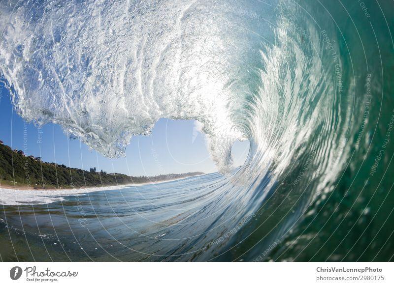 Ozeanschwimmende Welle Hohl von innen nach außen Meer Wellen Wassersport Schwimmen & Baden Natur Sand Himmel Strand Riff Tube blau Macht Energie Farbe Bild
