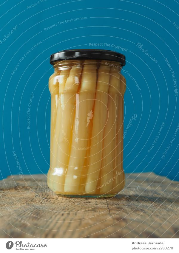 Bio Spargel im Glas Lebensmittel Gemüse Bioprodukte Vegetarische Ernährung Diät Gesunde Ernährung lecker culinary nourishment cooked vegetables antioxidant