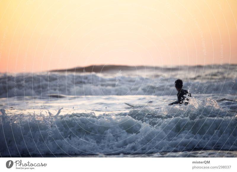 Goin' In I Mann Ferien & Urlaub & Reisen Stil Wellen Lifestyle ästhetisch Surfen Surfer Surfbrett Urlaubsfoto Urlaubsort Urlaubsstimmung Urlaubsgrüße Surfschule