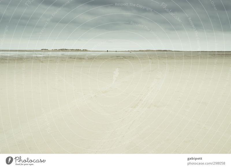 Rømø | weit und breit Landschaft Himmel Horizont Frühling schlechtes Wetter Wind Strand Nordsee Meer Idylle Perspektive ruhig Tourismus Ferne Unendlichkeit