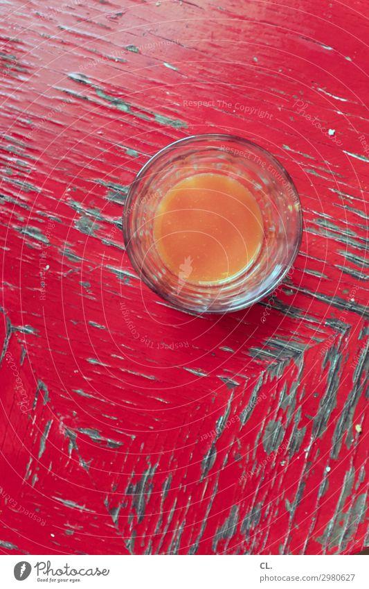 multivitaminsaft Getränk Erfrischungsgetränk Saft Glas Gesunde Ernährung Holz ästhetisch einfach Flüssigkeit Gesundheit lecker retro rund orange rot genießen