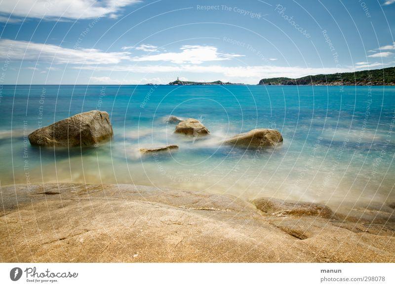 Steinbruch Ferien & Urlaub & Reisen Ferne Sommer Sommerurlaub Strand Meer Wellen Natur Landschaft Urelemente Wasser Himmel Schönes Wetter Wärme Felsen Küste