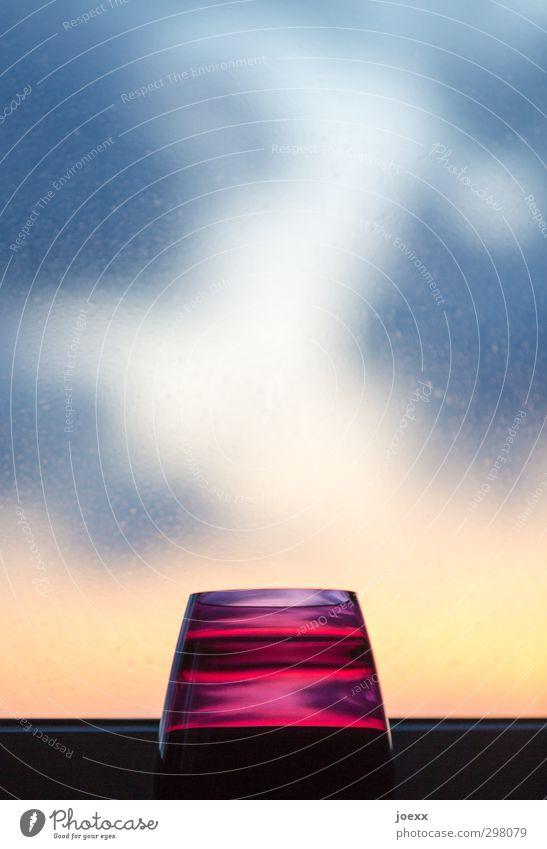 Fenster Farben Design Häusliches Leben Innenarchitektur Dekoration & Verzierung Vase modern rund blau mehrfarbig gelb violett schwarz weiß Farbfoto