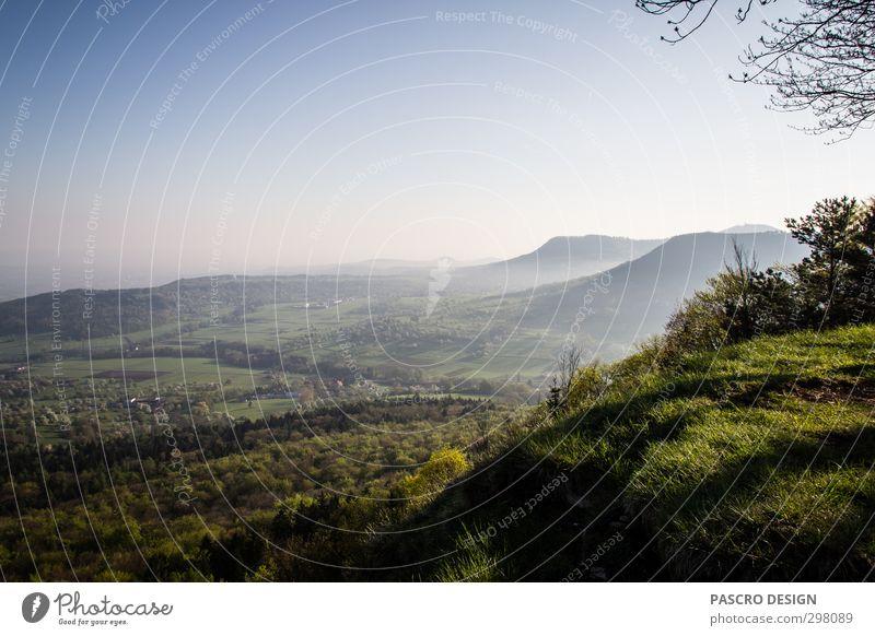 Morgendlicher Albtrauf Natur Ferien & Urlaub & Reisen grün Erholung Landschaft Ferne Berge u. Gebirge Umwelt Frühling Bewegung Glück Freiheit Zufriedenheit