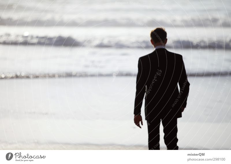 Feierabend I Kunst ästhetisch Zufriedenheit Meer Spaziergang Freiheit Karriere Business Anzug Ferien & Urlaub & Reisen Urlaubsfoto Urlaubsort Urlaubsstimmung
