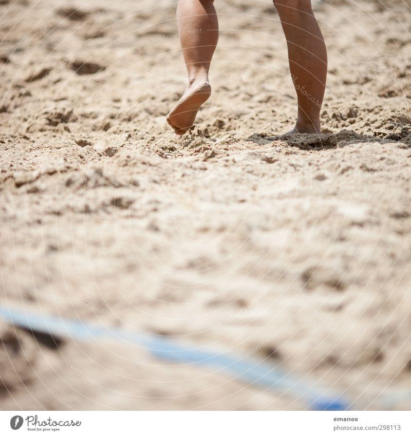 beach legs Lifestyle Freude Freizeit & Hobby Ferien & Urlaub & Reisen Sommer Sonne Strand Sport Ballsport Sportler Volleyball Mensch feminin Frau Erwachsene
