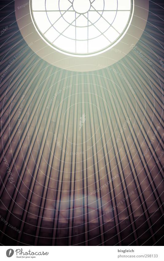 Dachfenster II grün Fenster Kirche Kreis Christliches Kreuz Lichtspiel Kuppeldach