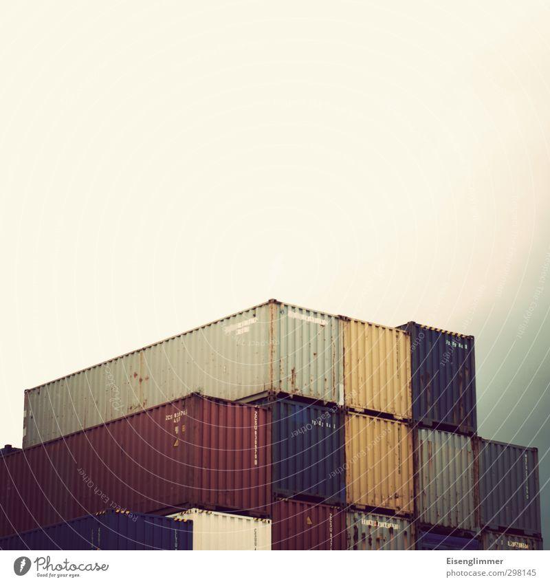 WILHELMSBURG/Container so weit das Auge reicht Schifffahrt Hafen hässlich trist mehrfarbig Güterverkehr & Logistik Containerverladung Containerterminal