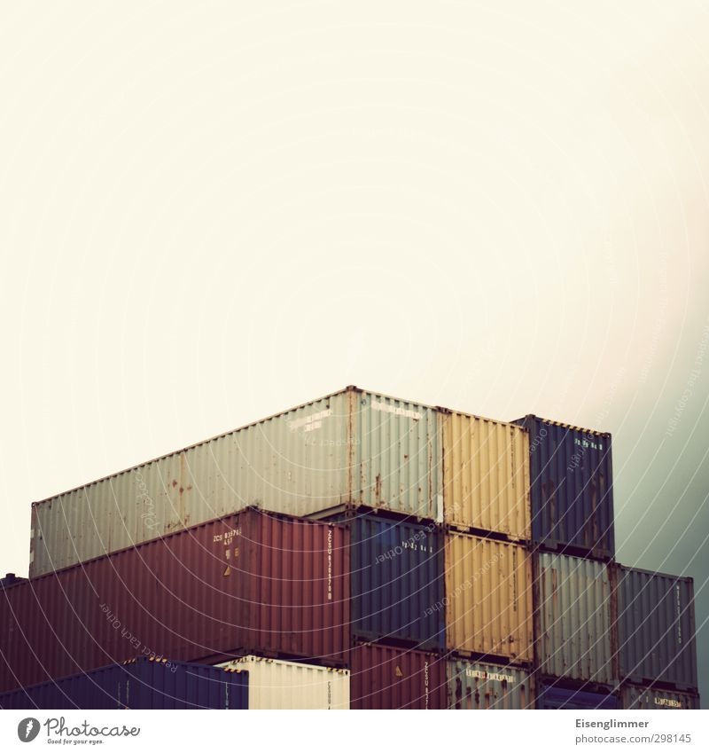 WILHELMSBURG/Container so weit das Auge reicht trist Metallwaren Güterverkehr & Logistik Hafen Schifffahrt hässlich Containerterminal Containerverladung