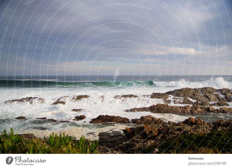 aka Popoklatscho Himmel Natur Ferien & Urlaub & Reisen Wasser Meer Landschaft Wolken Ferne Umwelt Küste Freiheit natürlich Felsen Horizont Wellen Wind