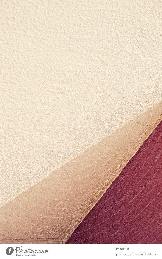 Wand Mauer Anstrich Putz Stein Beton Linie hell modern gelb rot Design Farbe Kreativität Perspektive Stil graphisch Warme Farbe Farbfoto Außenaufnahme