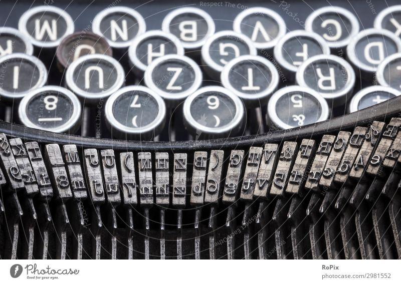 Historische Schreibmaschine Lifestyle Stil Design Bildung Schule lernen Arbeit & Erwerbstätigkeit Beruf Büroarbeit Arbeitsplatz Wirtschaft Medienbranche