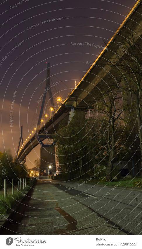 Köhlbrandbrücke Hamburg Ferien & Urlaub & Reisen Sightseeing Städtereise Wirtschaft Industrie Güterverkehr & Logistik Baustelle Energiewirtschaft Business