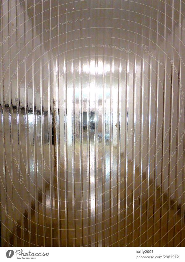 Isolation... Einsamkeit Tür Perspektive bedrohlich Neugier Platzangst lang Irritation bizarr Flur Isoliert (Position) gestreift Ausgrenzung Gang Glastür