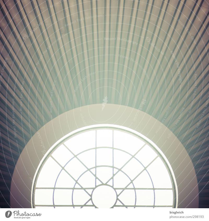 Dachfenster III grün weiß Fenster Glas Kirche Christliches Kreuz strahlenförmig