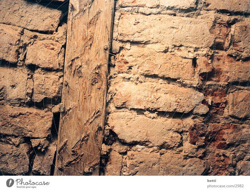 stones Wand Stein historisch Fachwerkfassade Lehm