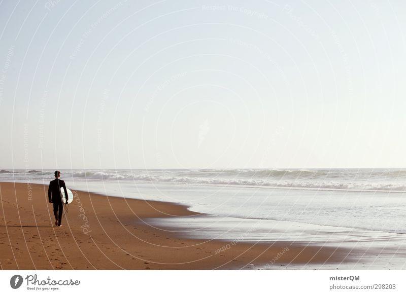 Feierabend III Ferien & Urlaub & Reisen Meer Strand Erholung Ferne Freiheit Küste Stil Business Kunst Wellen Freizeit & Hobby elegant Zufriedenheit Design