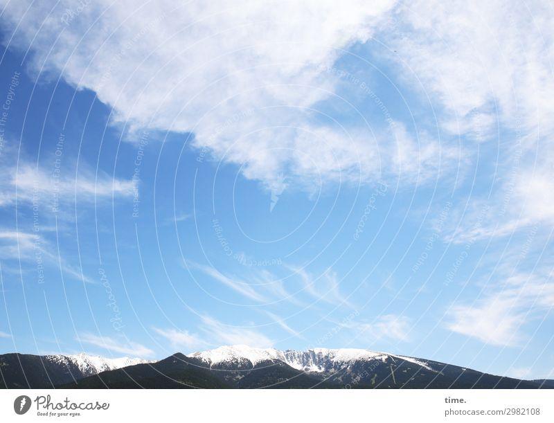 luftige Höh'n Himmel Natur schön Landschaft Wolken Einsamkeit Berge u. Gebirge dunkel Umwelt kalt Schnee Bewegung Zeit Kreativität Lebensfreude Wind