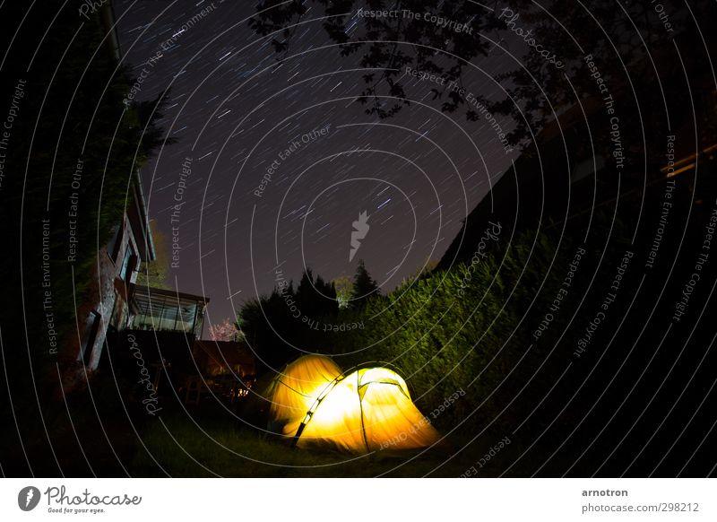 Hier unten leuchten wir... Himmel Ferien & Urlaub & Reisen ruhig gelb Wand Freiheit Mauer Garten gold Zufriedenheit Tourismus Sträucher Stern beobachten