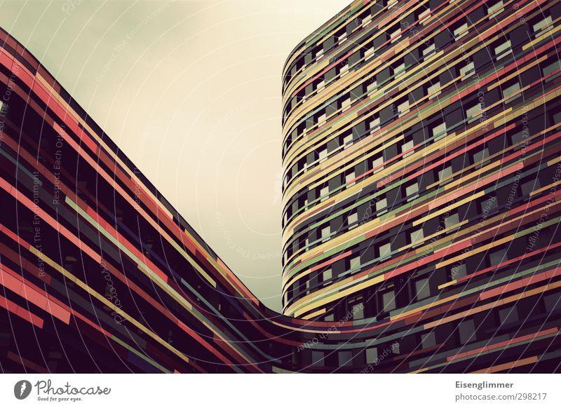 WILHELMSBURG/ Neuer Schwung für den Stadtteil Fenster Architektur Gebäude Deutschland Fassade hoch Hochhaus Europa ästhetisch Hamburg Streifen rund einzigartig
