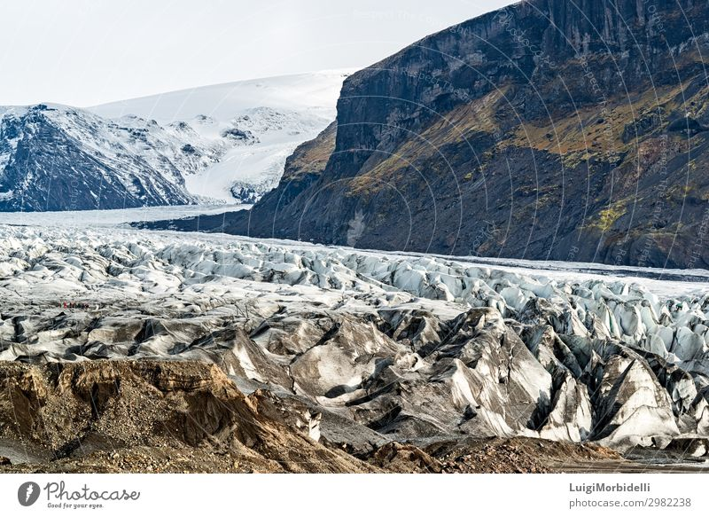 Skaftafell Vatnajokull Nationalpark, Island Ferien & Urlaub & Reisen Tourismus Ausflug Insel Schnee Berge u. Gebirge wandern Natur Landschaft Himmel Wolken Park