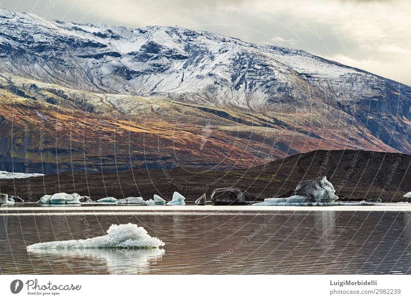 Skaftafell Vatnajokull Nationalpark, Island Ferien & Urlaub & Reisen Tourismus Insel Schnee Berge u. Gebirge Natur Landschaft Himmel Wolken Park Felsen