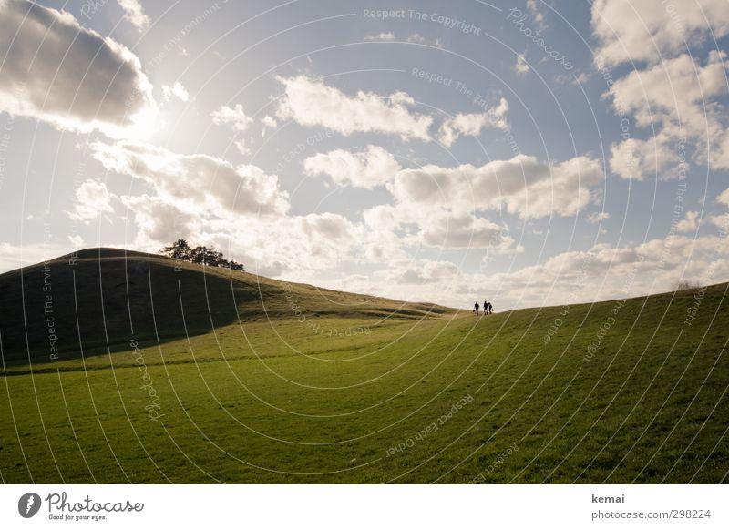 Zum Hörnle Mensch Himmel Natur blau grün Sommer Sonne Landschaft Wolken ruhig Umwelt Ferne Wiese Wärme Leben groß