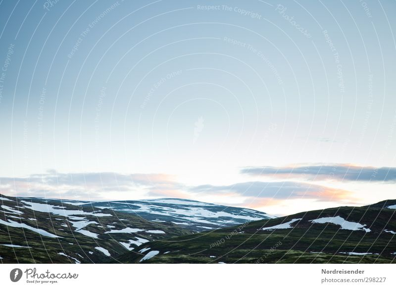 Patchwork Himmel Ferien & Urlaub & Reisen Einsamkeit Landschaft Wolken Ferne Berge u. Gebirge Wege & Pfade Freiheit Horizont Stimmung Felsen Klima
