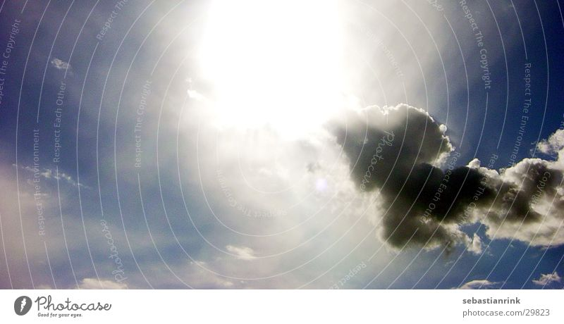 clouded sky [1] Himmel Sonne blau Wolken hell himmlisch