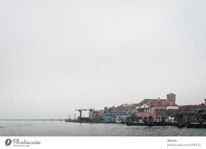 Burano Ferien & Urlaub & Reisen Tourismus Sightseeing Städtereise Venedig Italien Dorf Fischerdorf Hafenstadt Haus Schifffahrt Fernweh Farbfoto Außenaufnahme