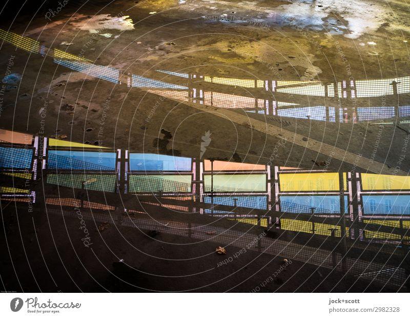 Rampe Fenster Wege & Pfade außergewöhnlich Stimmung Design blond ästhetisch Perspektive fantastisch Beton Bauwerk Inspiration Irritation Doppelbelichtung